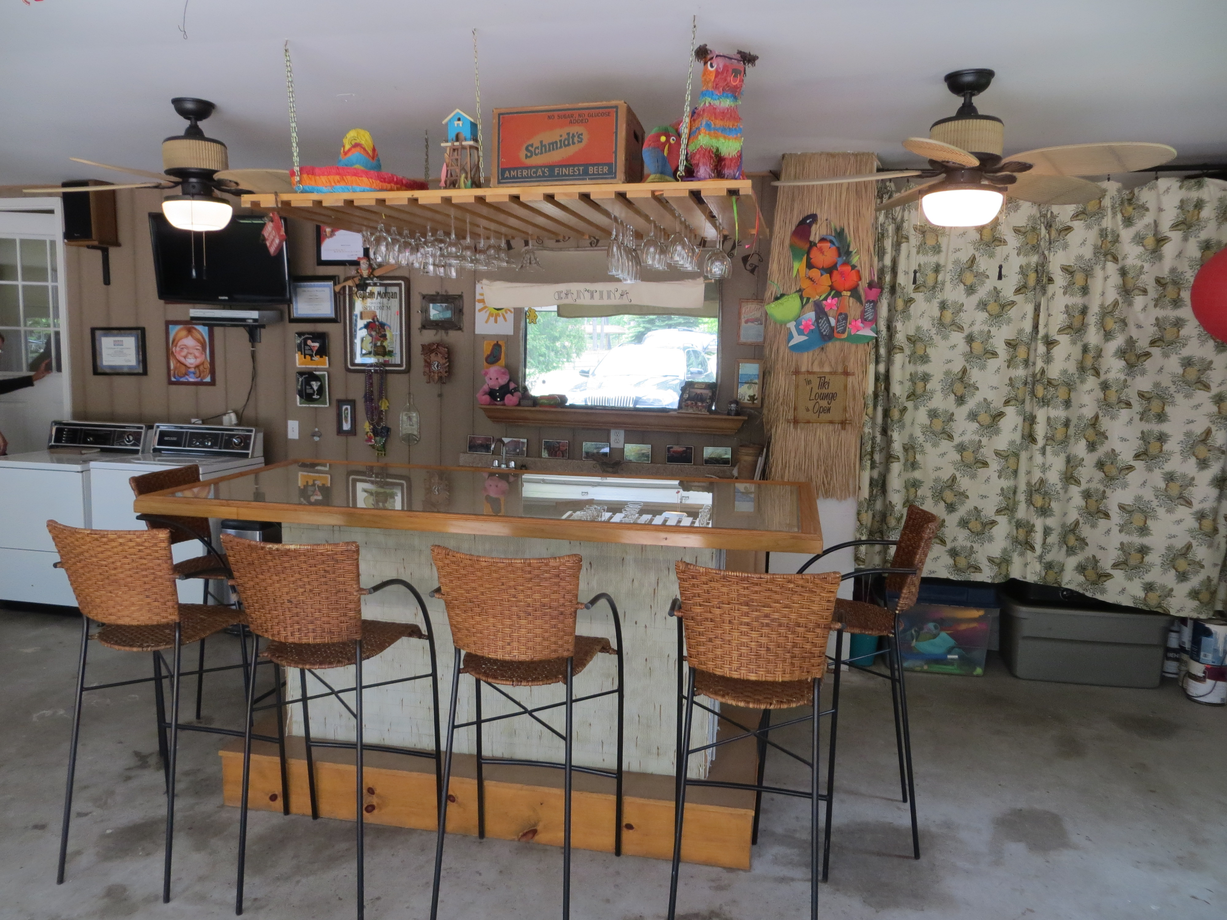 The Sand Y Spring Cantina Is A Fun Place To Relax And Have Garage Has Been Converted Great Tiki Bar That Contains Wet Flat Screen TV